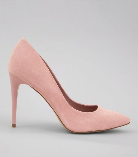 Pink Suedette Pointed Court Shoes | New Look