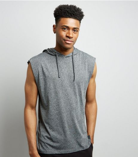 Light Grey Sleeveless Hoodie | New Look