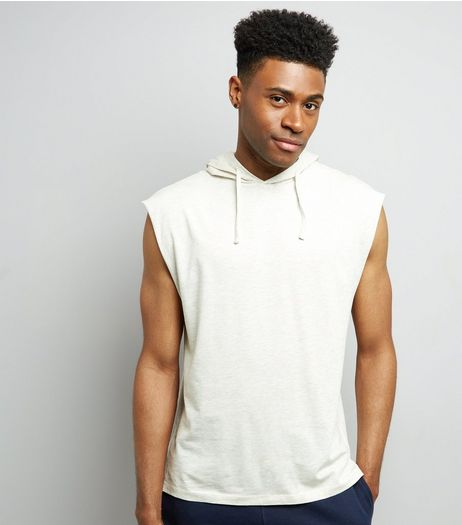 Cream Sleeveless Hoodie | New Look