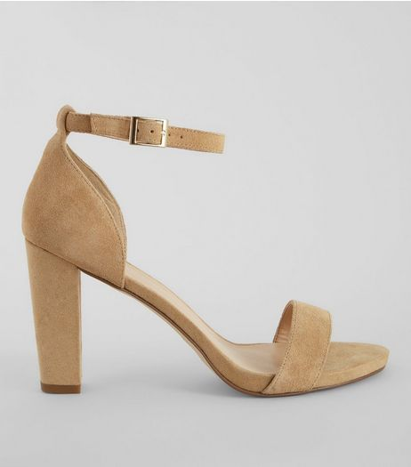 Camel Ankle Strap Heeled Sandals | New Look