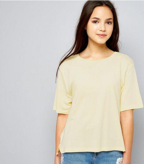 Teens Yellow D Ring Side T-Shirt | New Look