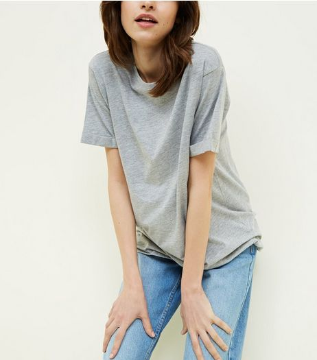 Tall Grey Oversized T-Shirt | New Look