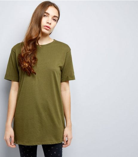 Tall Khaki Oversized T-Shirt | New Look