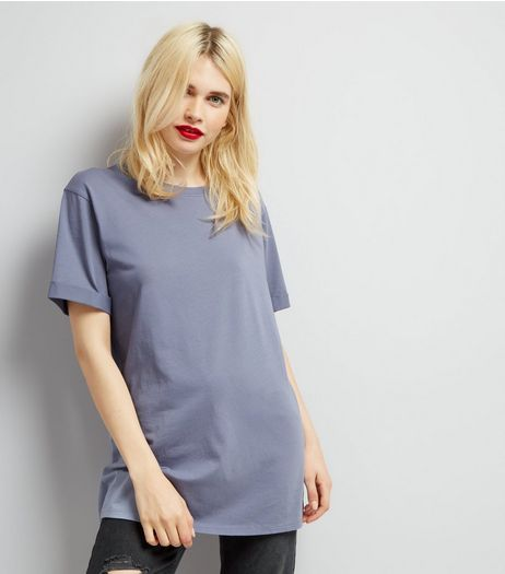 Tall Blue Oversized T-Shirt | New Look