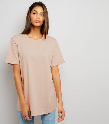 Tall Shell Pink Oversized T-Shirt | New Look