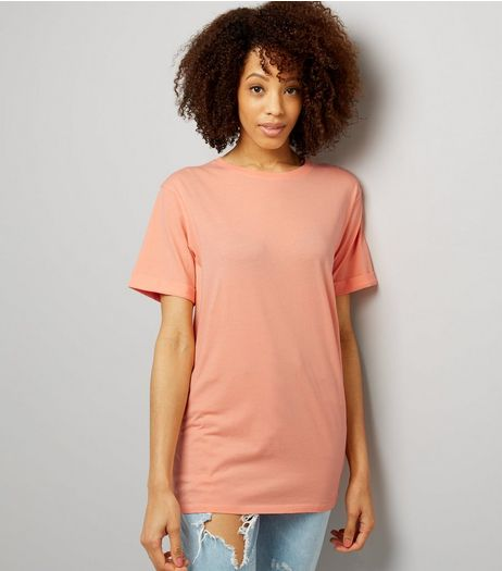 Tall Coral Oversized T-Shirt | New Look