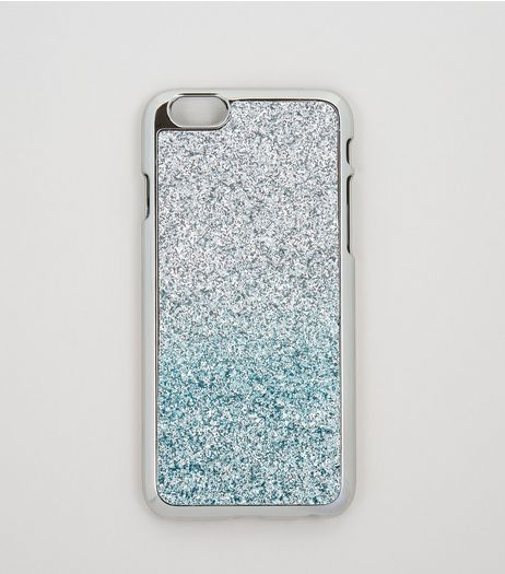 Silver Glitter Ombre iPhone 6 Case | New Look