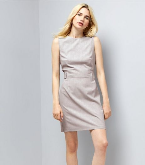 Light Grey Sleeveless Shift Dress   | New Look