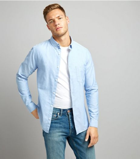 Blue Long Sleeve Oxford Shirt | New Look