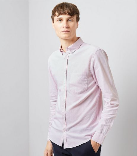 Pink Long Sleeve Oxford Shirt | New Look
