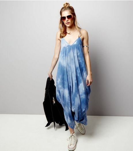 Blue Vanilla Tie Dye Print Jumpsuit  | New Look