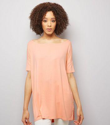 Orange Off The Shoulder Top