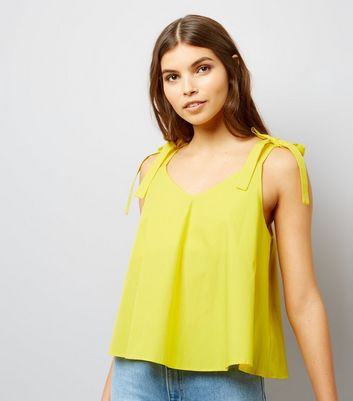 Yellow Tie Strap Cami Top