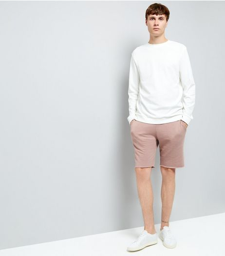 Pink Raw Hem Shorts | New Look