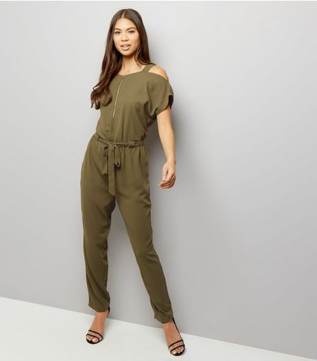 Anita and Green Khaki Jumpsuit | New Look