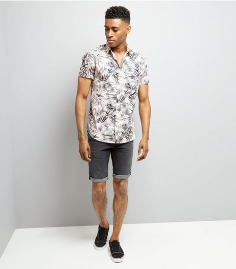 Grey Slim Leg Stretch Denim Shorts | New Look
