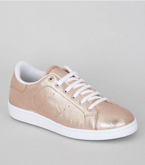Rose Gold Trainers | New Look
