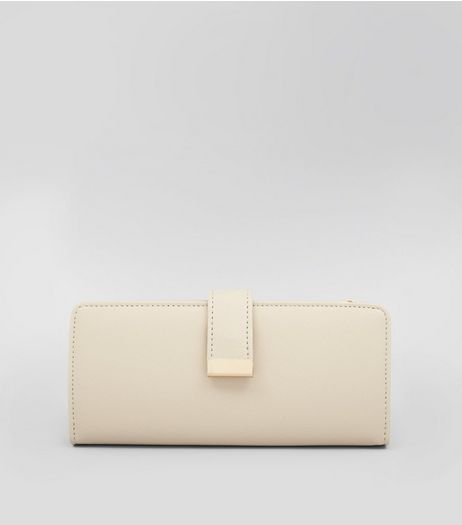 Cream Double Pouch Purse | New Look