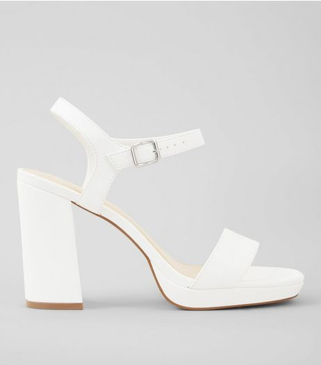 Wide Fit Chunky Block Heels | New Look