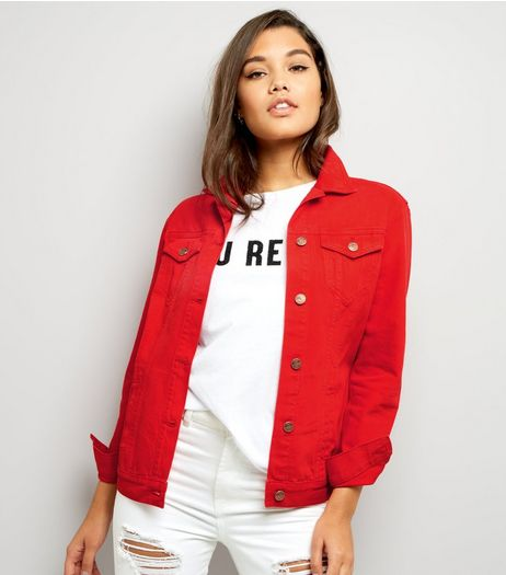 Red Denim Jacket | New Look