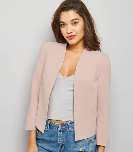 Tall Shell Pink Cropped Jacket | New Look