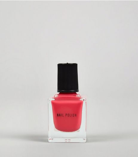 Coral Reef Pink Nail Polish | New Look