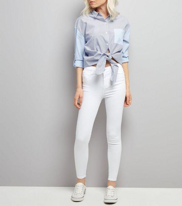 Petite White Skinny Shaper Jeans