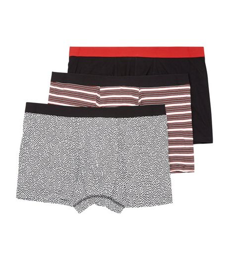 3 Pack Mixed Stripe and Swirl Print Trunks | New Look