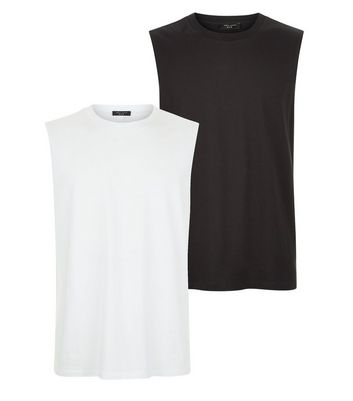 2 Pack Black And White Tank Tops