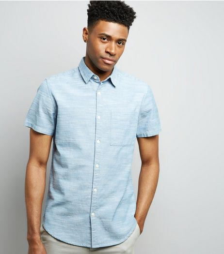 Blue Chambray Short Sleeve Shirt | New Look