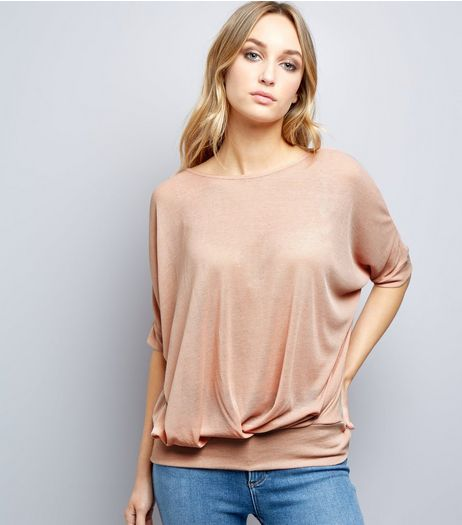 Blue Vanilla Pink Chiffon Cross Back Top | New Look
