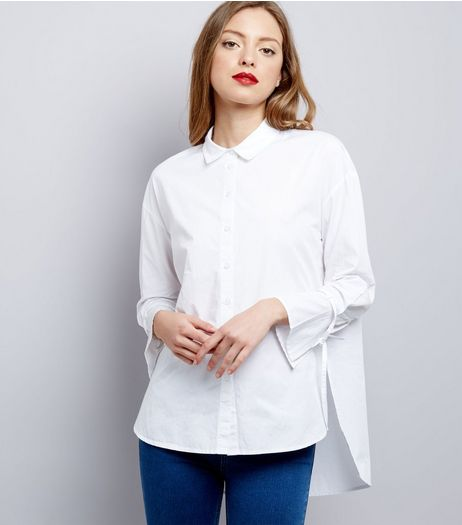 Innocence White Bell Sleeve Shirt  | New Look