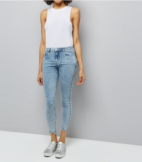 Blue Acid Wash Skinny Jeans | New Look
