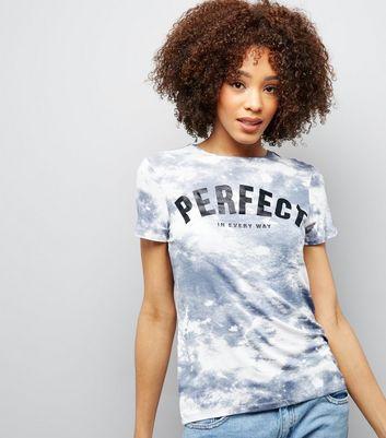 White Tie Dye Perfect Print T-Shirt