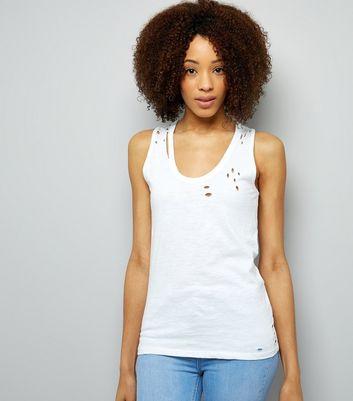 White Ripped Vest