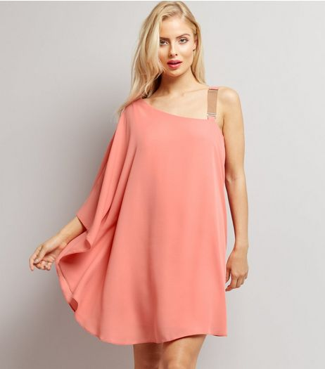 Pink Chain Strap Off the Shoulder Dress | New Look