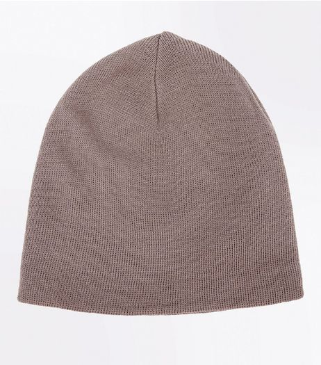 Stone Knit Beanie  | New Look