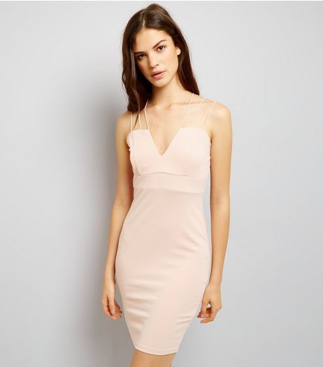 AX Paris Pink Strappy Dress  | New Look