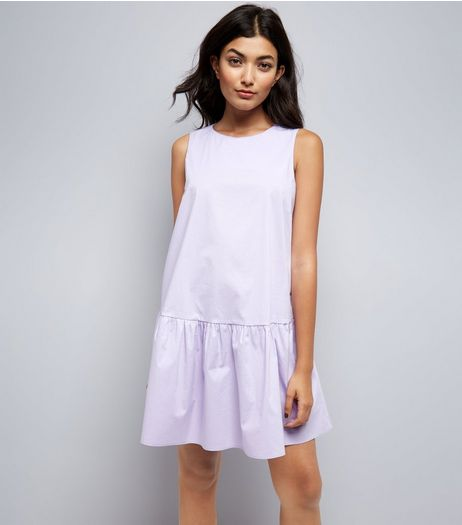 Lilac Drop Peplum Hem Dress | New Look