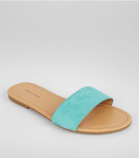 Mint Green Suedette Mules | New Look