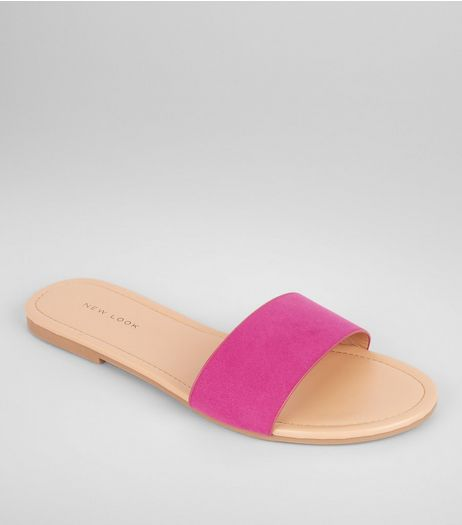 Pink Suedette Mules | New Look