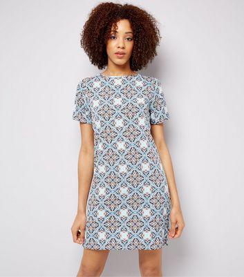 Blue Tile Print Tunic