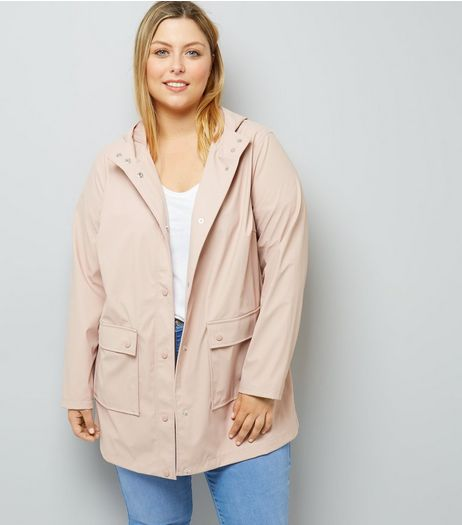 Curves Shell Pink Matte Anorak | New Look