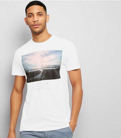 White California 92 Print Short Sleeve T-Shirt  | New Look