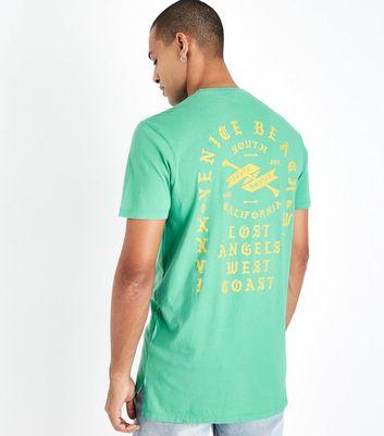 Green Venice Beach Print T-Shirt