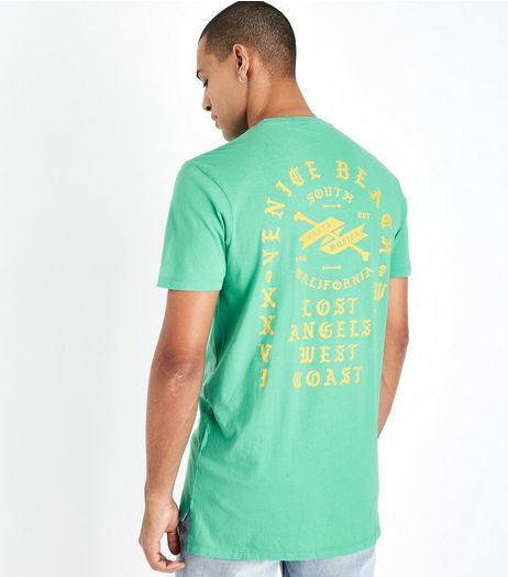 Green Venice Beach Print T-Shirt | New Look
