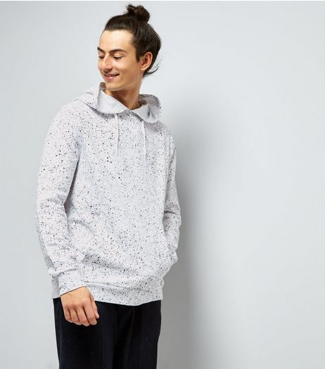 White Spray Wash Hoodie | New Look