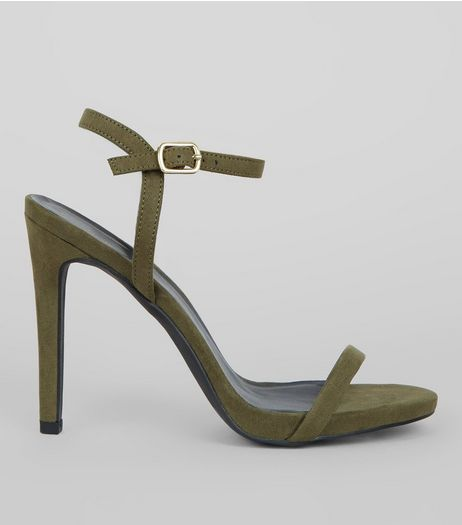 Khaki Ankle Strap Heels | New Look