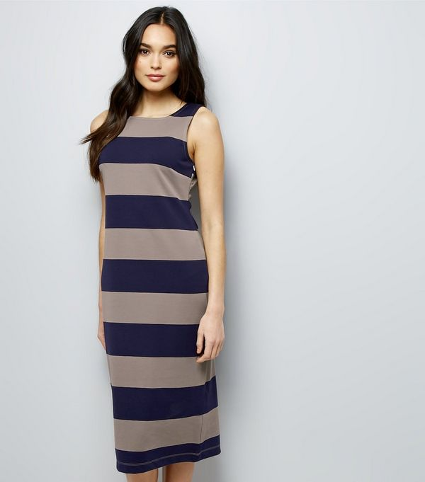 Blue Dresses - Navy- Cobalt &amp- Baby Blue Dress - New Look