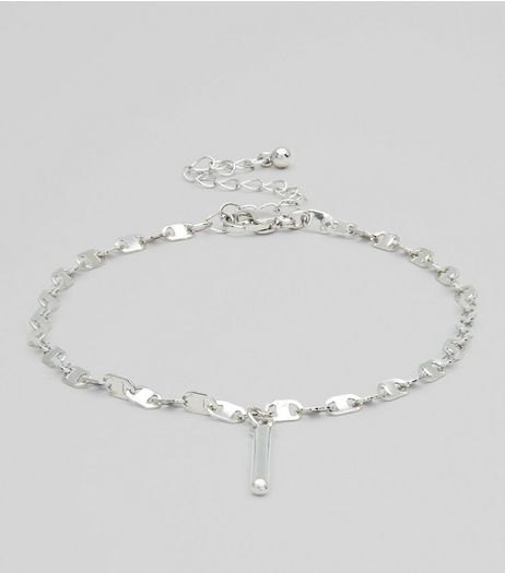 Silver Flat Chain Anklet | New Look